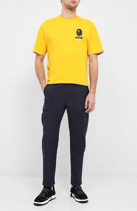 Мужской хлопковые брюки-карго BAPE темно-синего цвета, арт. 1G30152014   Фото 2