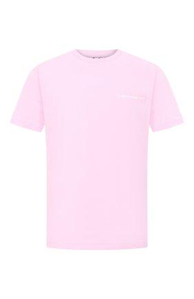 Мужская хлопковая футболка BAPE розового цвета, арт. 1G30110088 | Фото 1