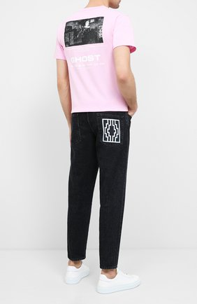 Мужская хлопковая футболка BAPE розового цвета, арт. 1G30110088 | Фото 2
