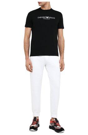 Мужская хлопковая футболка EMPORIO ARMANI черного цвета, арт. 8N1T61/1J00Z   Фото 2