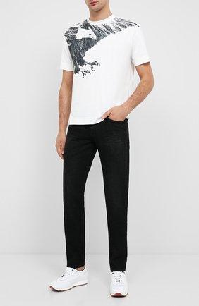 Мужская хлопковая футболка EMPORIO ARMANI белого цвета, арт. 6H1TS8/1JRKZ | Фото 2