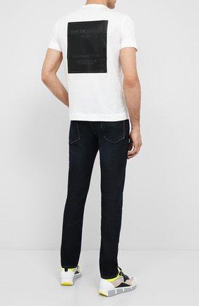 Мужская хлопковая футболка EMPORIO ARMANI белого цвета, арт. 6H1TG7/1JDXZ   Фото 2