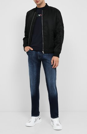 Мужская хлопковая футболка EMPORIO ARMANI темно-синего цвета, арт. 6H1T71/1J11Z   Фото 2