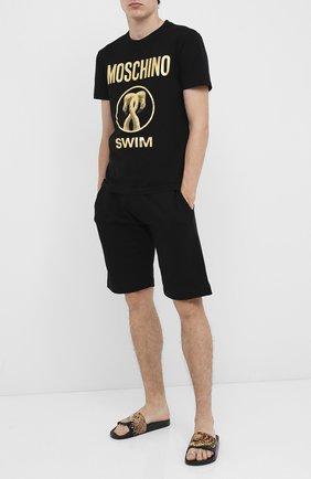 Мужская хлопковая футболка MOSCHINO черного цвета, арт. V1910/2303 | Фото 2