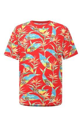 Мужская хлопковая футболка MOSCHINO красного цвета, арт. V1908/2316 | Фото 1