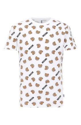 Мужские хлопковая футболка MOSCHINO белого цвета, арт. A1908/8105 | Фото 1