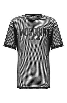 Мужская футболка MOSCHINO черного цвета, арт. A1906/2304 | Фото 1