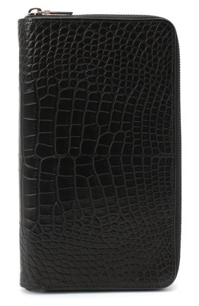 Мужской портмоне из кожи аллигатора ZILLI черного цвета, арт. MJL-0WT02-10100/0001/AMIS | Фото 1