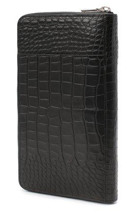 Мужской портмоне из кожи аллигатора ZILLI черного цвета, арт. MJL-0WT02-10100/0001/AMIS | Фото 2