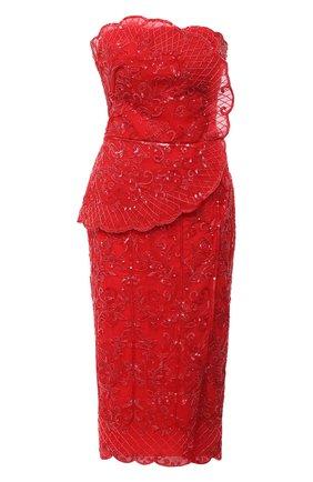 Женское платье  ZUHAIR MURAD красного цвета, арт. DRR20013/EMAL002 | Фото 1