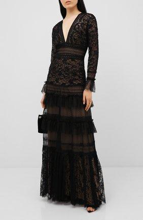 Женское платье-макси ZUHAIR MURAD черного цвета, арт. DRR20023/LMIX005 | Фото 2