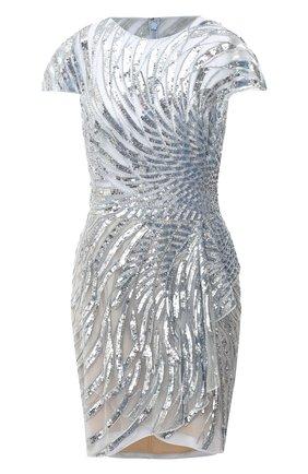 Женское платье с пайетками ZUHAIR MURAD серебряного цвета, арт. DRR20036/EMSA003 | Фото 1