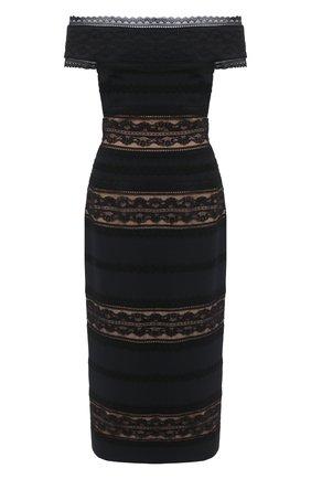Женское платье-миди ZUHAIR MURAD черного цвета, арт. DRR20041/CRCA007 | Фото 1