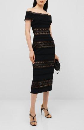 Женское платье-миди ZUHAIR MURAD черного цвета, арт. DRR20041/CRCA007 | Фото 2