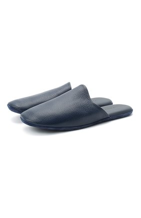 Мужского домашние кожаные туфли FRETTE синего цвета, арт. 20199140 00F 90326 | Фото 1