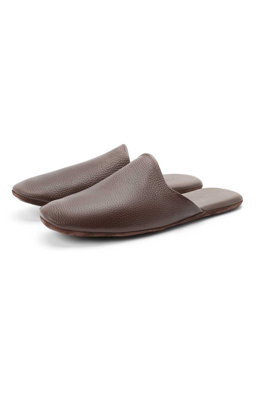 Мужского домашние кожаные туфли FRETTE темно-коричневого цвета, арт. 20199140 00F 90326   Фото 1