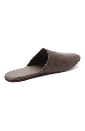 Мужского домашние кожаные туфли FRETTE темно-коричневого цвета, арт. 20199140 00F 90326   Фото 4