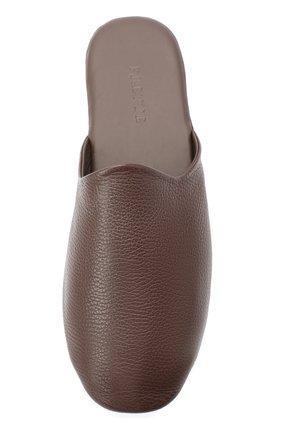 Мужского домашние кожаные туфли FRETTE темно-коричневого цвета, арт. 20199140 00F 90326   Фото 5