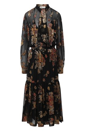 Женское платье-миди SAINT LAURENT черного цвета, арт. 624431/Y115W | Фото 1