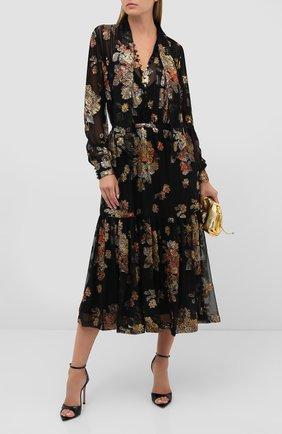 Женское платье-миди SAINT LAURENT черного цвета, арт. 624431/Y115W | Фото 2