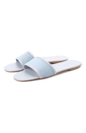 Женского домашние замшевые туфли FRETTE синего цвета, арт. 20199167 00F 90322 | Фото 1