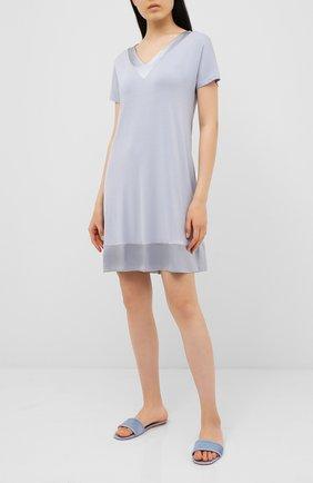 Женского домашние замшевые туфли FRETTE синего цвета, арт. 20199167 00F 90322 | Фото 2