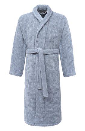 Мужской хлопковый халат FRETTE синего цвета, арт. FR6243 D2060 G02L | Фото 1
