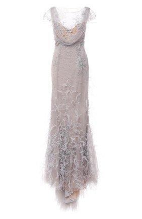 Женское платье-макси MARCHESA серебряного цвета, арт. M29808 | Фото 1