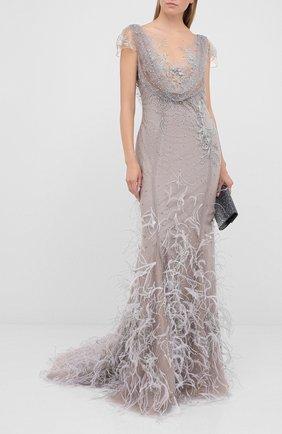 Женское платье-макси MARCHESA серебряного цвета, арт. M29808 | Фото 2