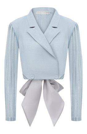 Женский шелковый жакет ULYANA SERGEENKO голубого цвета, арт. GCC012SS19P (0799т19) | Фото 1
