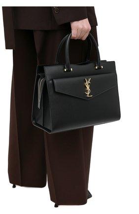 Женская сумка uptown SAINT LAURENT черного цвета, арт. 634747/1KA0J   Фото 2