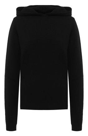 Женская пуловер с капюшоном RICK OWENS черного цвета, арт. RP20F2685/WSBR   Фото 1