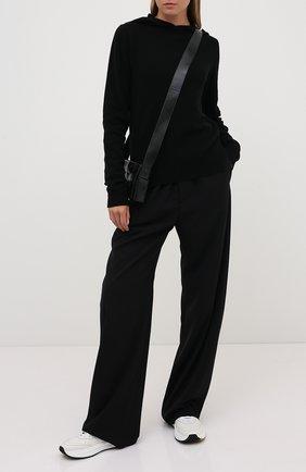 Женская пуловер с капюшоном RICK OWENS черного цвета, арт. RP20F2685/WSBR   Фото 2