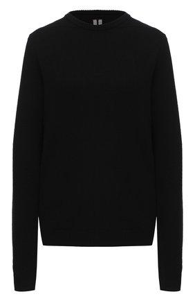 Женская пуловер из кашемира и шерсти RICK OWENS черного цвета, арт. RP20F2682/WSBR   Фото 1