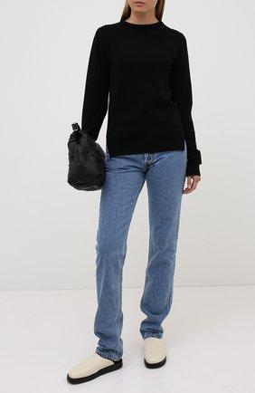 Женская пуловер из кашемира и шерсти RICK OWENS черного цвета, арт. RP20F2682/WSBR   Фото 2