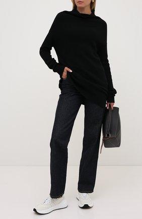 Женская пуловер из кашемира и шерсти RICK OWENS черного цвета, арт. RP20F2681/WSBR   Фото 2