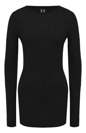 Женская пуловер RICK OWENS черного цвета, арт. RP20F2632/KAI   Фото 1