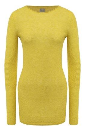 Женская пуловер RICK OWENS желтого цвета, арт. RP20F2632/KAI   Фото 1