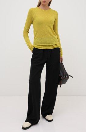 Женская пуловер RICK OWENS желтого цвета, арт. RP20F2632/KAI   Фото 2
