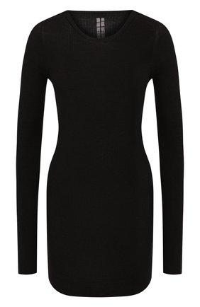 Женская шерстяной пуловер RICK OWENS серого цвета, арт. RP20F2621/RIBM   Фото 1