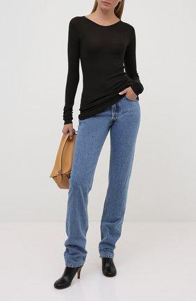 Женская шерстяной пуловер RICK OWENS серого цвета, арт. RP20F2621/RIBM   Фото 2