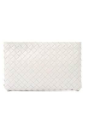 Женские кожаный футляр для документов BOTTEGA VENETA белого цвета, арт. 608232/VCPP2 | Фото 1