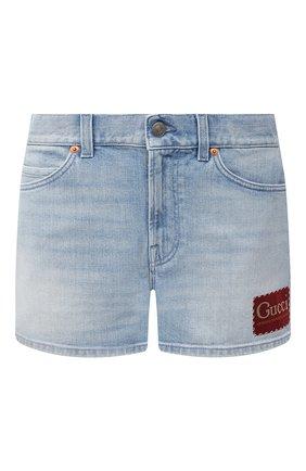 Женские джинсовые шорты GUCCI голубого цвета, арт. 583978/XDA6C | Фото 1