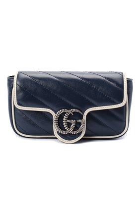 Женская сумка gg marmont 2.0 GUCCI темно-синего цвета, арт. 574969/00LFN | Фото 1