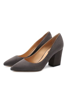 Женская замшевые туфли SERGIO ROSSI светло-серого цвета, арт. A85320-MCAZ01 | Фото 1