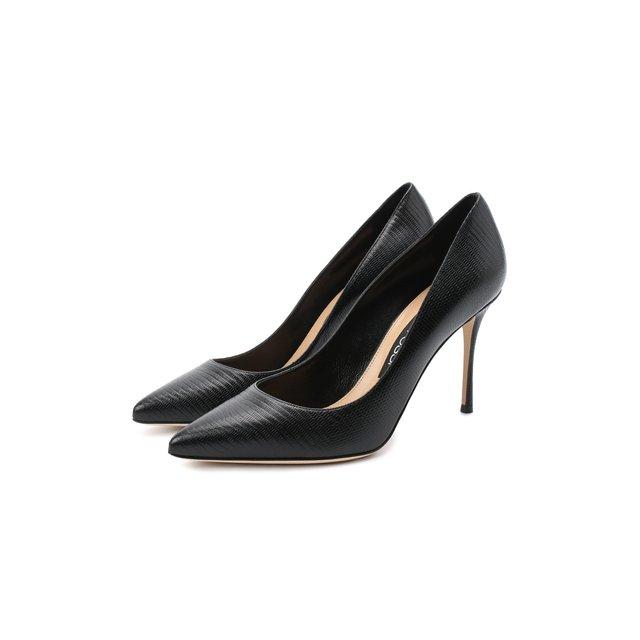 Кожаные туфли Godiva Sergio Rossi
