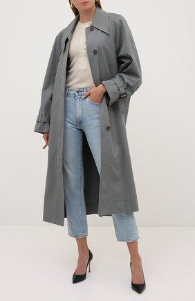 Женская кожаные туфли godiva SERGIO ROSSI черного цвета, арт. A43843-MAGS03 | Фото 2