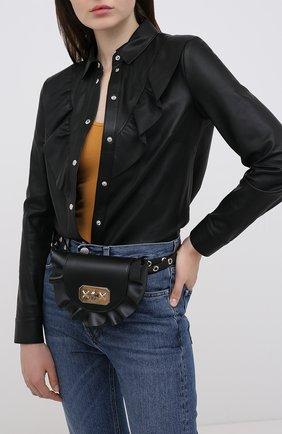 Женская поясная сумка REDVALENTINO черного цвета, арт. UQ2B0B87/VFV | Фото 2