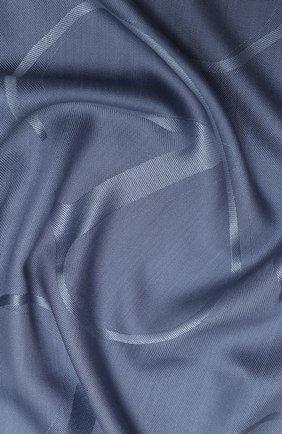 Женская шаль из шелка и шерсти valentino garavani VALENTINO голубого цвета, арт. UW2EB104/AJB   Фото 2