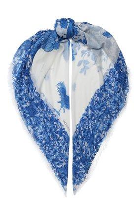 Женская шаль из кашемира и шелка valentino garavani VALENTINO кремвого цвета, арт. UW2EB104/GSP | Фото 1